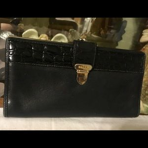 Vintage Leather Bally Clutch Wallet